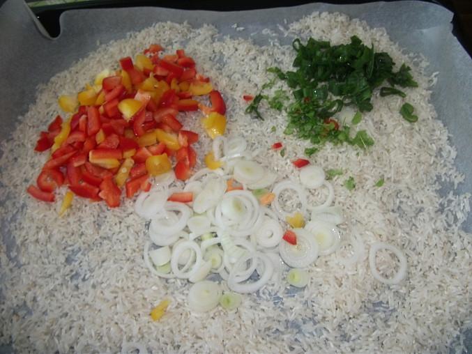 Příprava rýže.