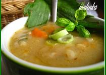 Polévka z libečku  s  kroupami