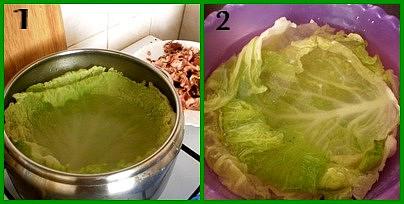 1.listy 4minuty ve vařící vodě povaříme2.a ve studené vodě ochladíme