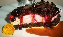 Čokoládový dort s tvarohem a borůvkami