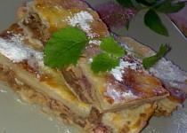 Křehký  moučník z listového těsta s  netradiční čoko-jablečnou nádivkou