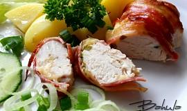 Kuřecí prsa pečená ve slanině