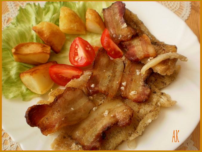 štikozubec s gazdovskou slaninou