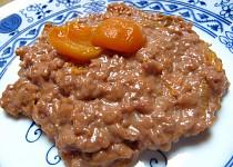 Čokoládová rýže s kompotem