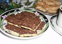 Kakaovo-ořechové řezy