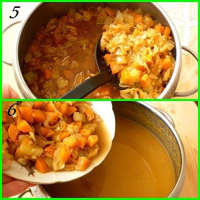 5.po uvaření část zeleniny odebereme6.zbytek rozmixujeme a odebranou zeleninu dáme nazpět