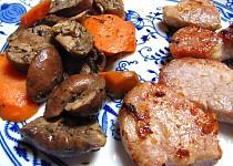 Panenka s pečenými žampiony a mrkví