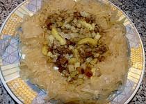 Prolisované smažené brambory na špeku a kmínu