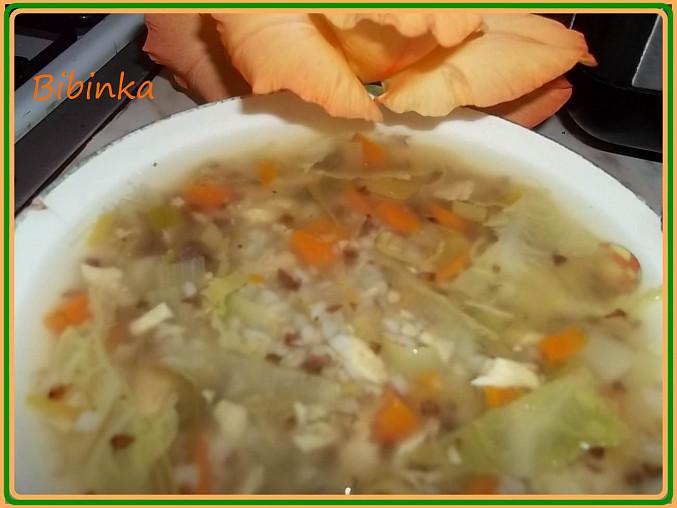 detail Stonkové polévky s pohankou