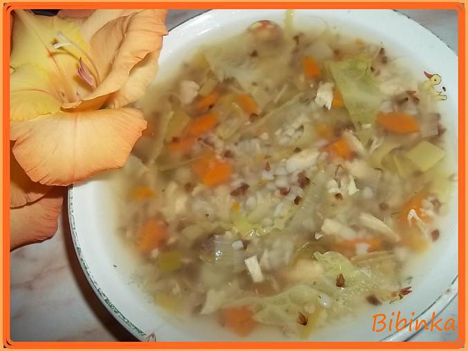 Stonková polévka s pohankou