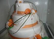 Svatební dort - můj první