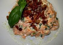 Tagliatelle tomato sypané křupavou Pancettou