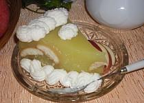 Jablečný dort s piškoty, nepečený