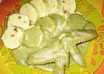Kuřecí křídla v brokolicové omáčce