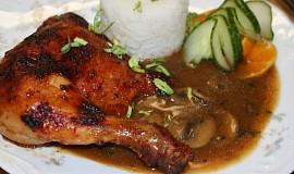 Pečené kuře v džusové marinádě