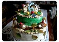 Podzimní dort s ježky