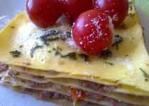 Zapečené lososové lasagne