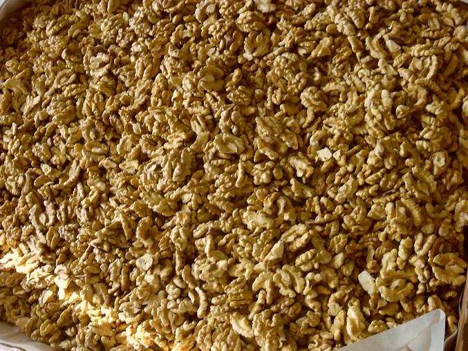 Zavařování ořechových jader, usušená jádra