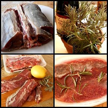 část použitých surovin,maso v marinádě