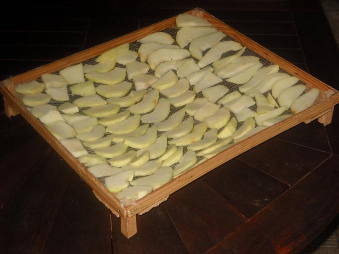 Sušená jablka a hrušky