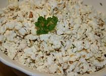 Domácí pop corn, bylinkovo-česnekový