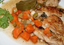 Kuře se zimní zeleninou