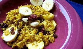 Ovocná kari rýže