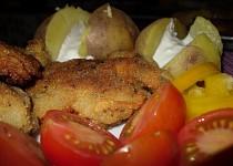 Vařené brambory s jemným dipem
