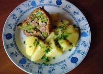 Brokolice plněná mletým masem a sýrem