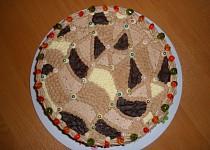 Čokoládový dort s pařížskou šlehačkou a s čokoládovým  krémem