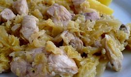 Kuřecí nudličky s kapustou