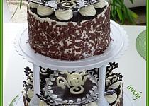 Čokoládový dvoupatrový dort