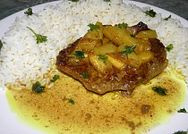 Hovězí v ananasové omáčce