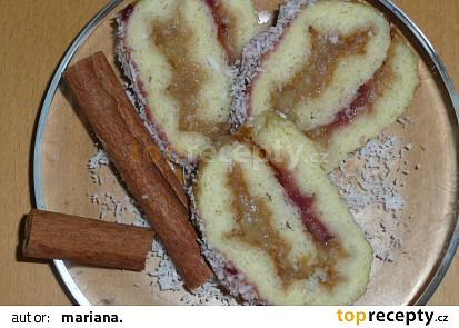 Jablkovo-skořicová roláda(nízkokalorická)