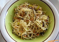 Kuřecí maso s čínskými nudlemi a zeleninou