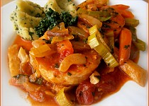 Rybí filé v zelenině