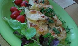 Smetanové zapečené brambory s bylinkama a kořením