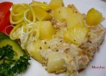Zapečené kuřecí maso s bramborami