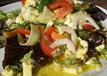 Fenyklovo - zeleninový salát s vaječnou zálivkou