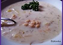 Koprová polévka na kyselo s fazolemi