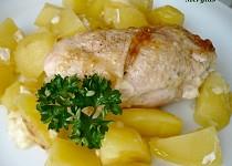 Kuřecí rolky pečené s bramborami - dietní