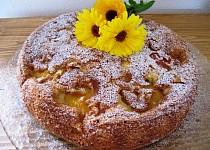 Piškotový koláč s ovocem bezlepkový ( nebo s lepkem )