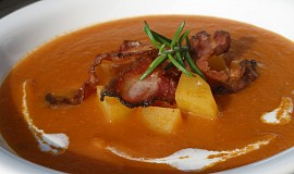 Rajčatovo - bramborová polévka