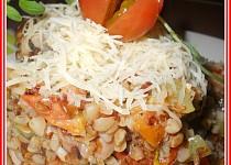 Pohankoto ze  zeleniny a kuřecího masa v majoránce