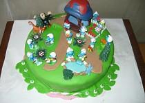 Šmoulí dort pro Karolínku (můj vlastní výtvor)
