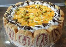 Voňavý pomerančový dort