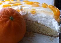 Lehký mandarinkový dort