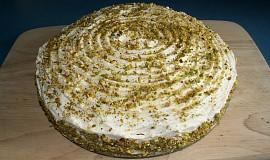 Pistáciový dort s mascarpone krémem