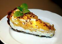 Výborný nepečený  broskovo-tvarohový dort