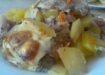 Zapékané brambory s  pangasem a čínskou zeleninou